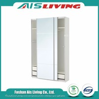 Factory price fitted fashion home furniture high gloss grand bedroom wardrobe