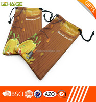 Small Order factory custom design microfiber polyester cleaning pouch for lens