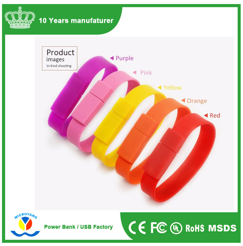 4GB-32GB Bracelet/Wrist Bands USB 2.0/3.0 Memory Stick Flash pen Drive
