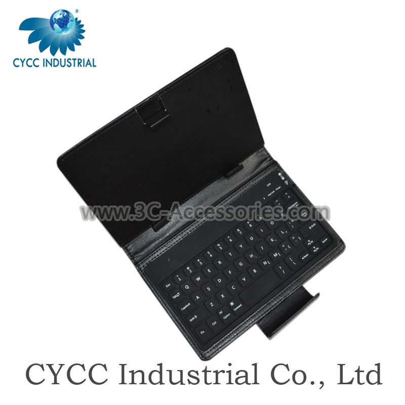 Bluetooth Keyboard Portfolio Leather Case for Tablet PC