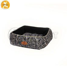 Zebra Print Fashion Square Dog Beds Rectangle Pet Product Home Goods