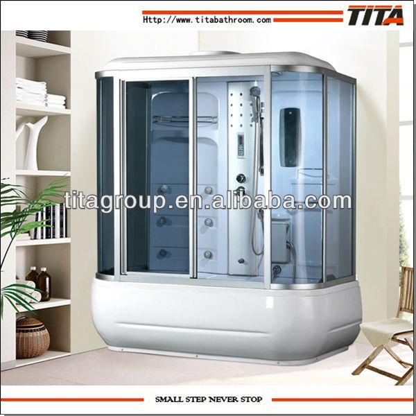 Cabina de ba o de vapor con vidrio templado azul rectangular salas de ducha identificaci n del - Cabina ducha rectangular ...