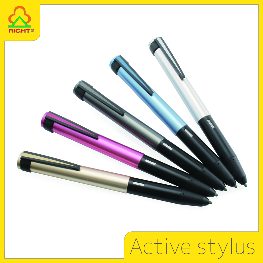Active Capacitive Stylus Pen with stylus PET pen tip for touch capacitance screen