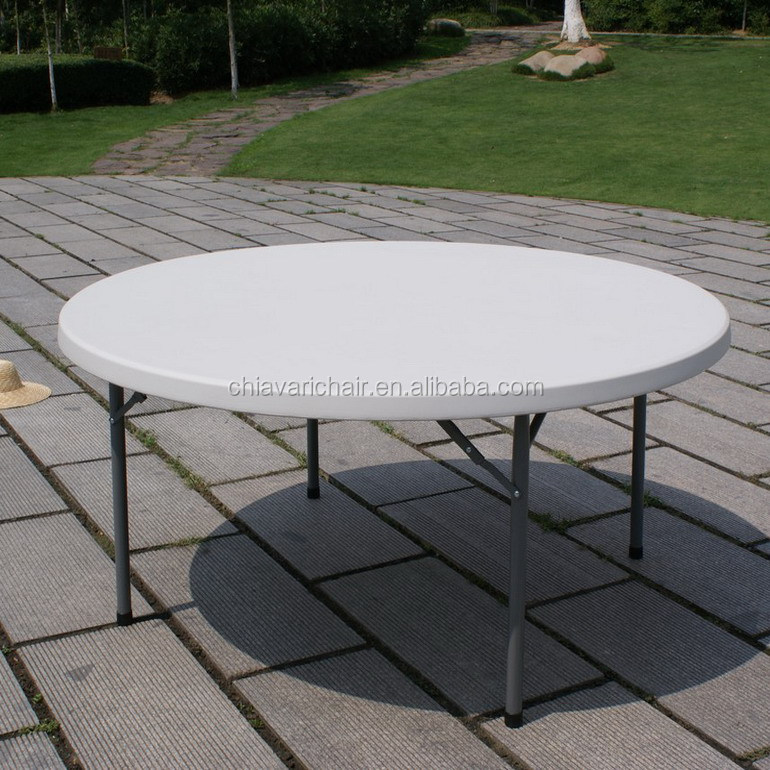 China Hard Plastic Wedding Decorations Folding Dining Tables