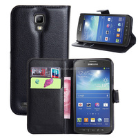 Hot Selling Ultra Thin Lichee PU Leather Case Wallet Folio Flip Cover for Samsung GALAXY S4 Active i9295