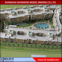 3d Architetcture model Residential building model /house scale model making