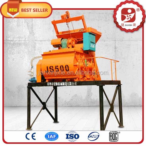 New performance type high efficiency electric automatic twin shaft bucket concrete mixer used in construction site