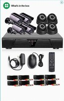 cctv surveilance camera kit 8ch 720p hd cvi camera HDMI 1 Mp 4 indoor dome and 4 outdoor bullet CCTV video cameras kit