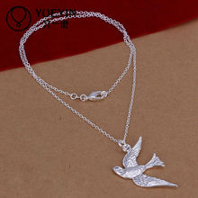 Fashion necklace for girls with birds pendants