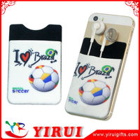 YK011 customized logo printed 3M back stick card holder
