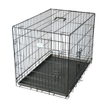 folding metal welded wire dog crate