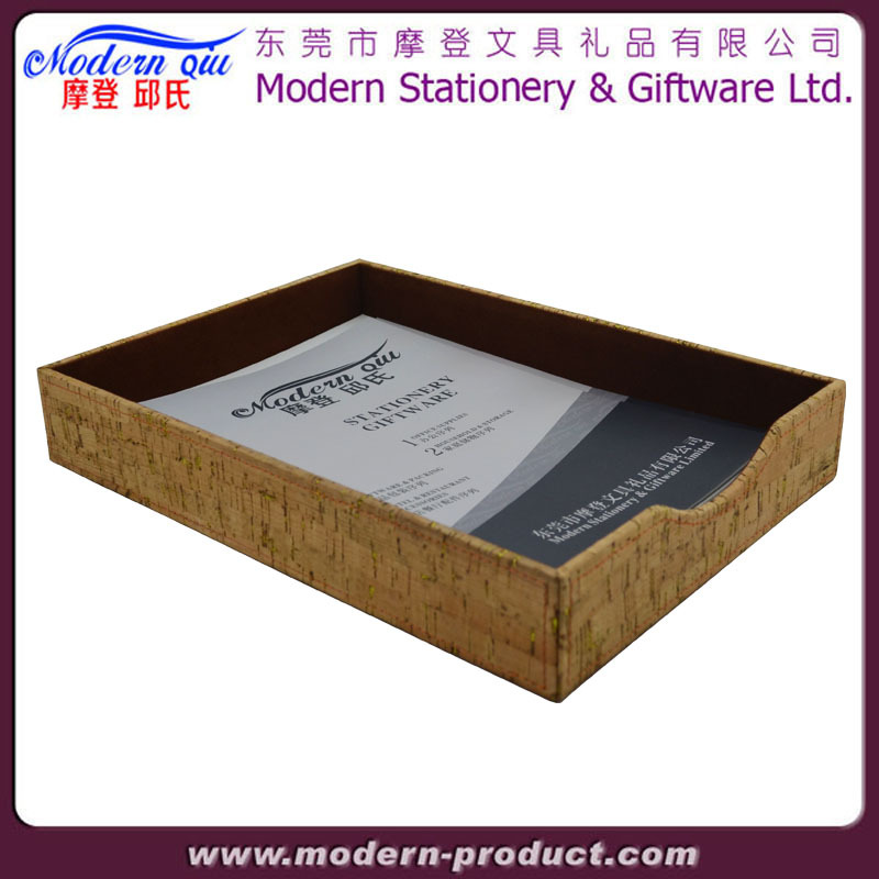 Office Desk Leather A4 Paper Document File Tray