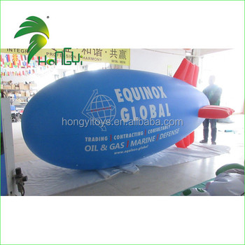 Custom Made Inflatable pvc Airship / Helium Blimp Outdoor / Zeppelin / Inflatable Blimp