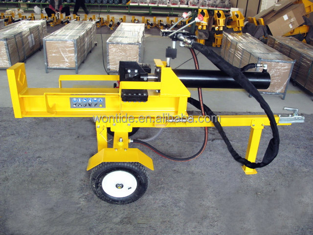 26 Ton fast speed horizontal&vertical automatic gasoline hydraulic log splitter with CE