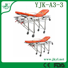 YJK-A3-3 Aluminum automatic loading ambulance stretcher exquisite selection for hot sale
