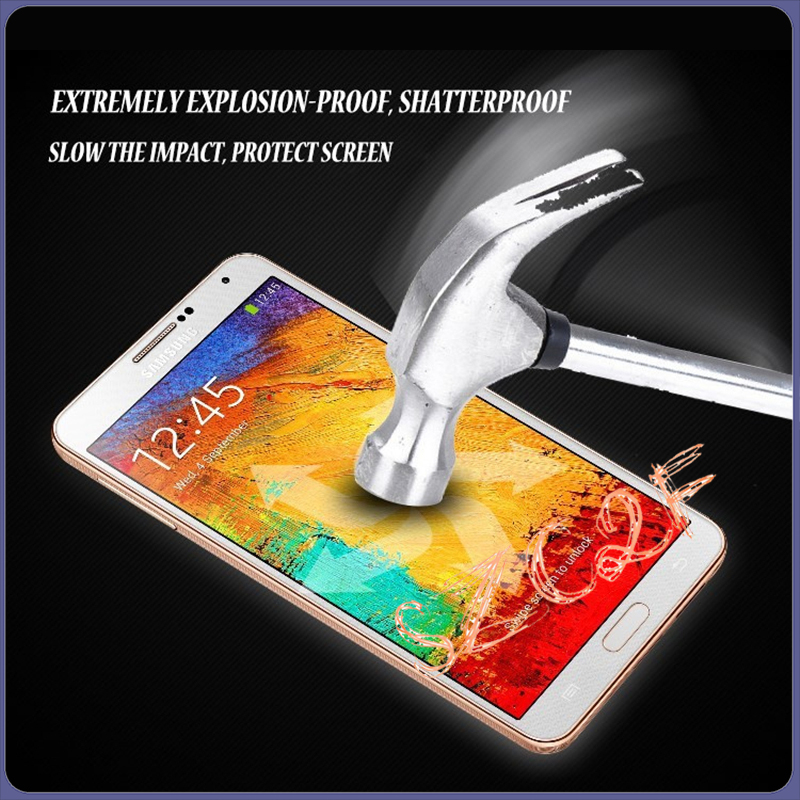 0.26mm Ultra Thin Transparent Clear Universal Tempered Glass Screen Protector for Samsung Note 3