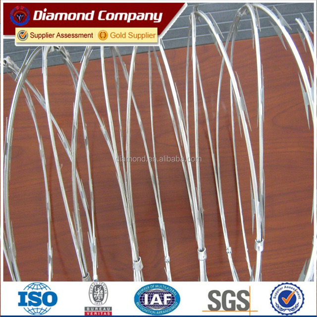 low price BTO - 22 / CBT - 65 barbed wire , concertina razor wire , razor blade barbed wire