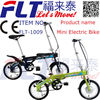 Manufacturer supply Mini 14'' wheels ultra light FLT-1009 new model electric bicycle