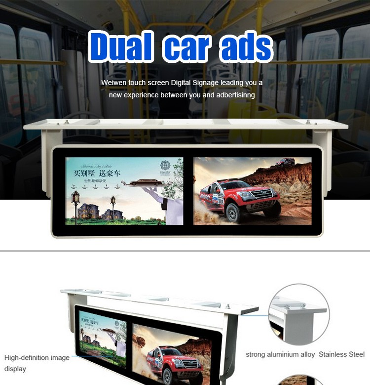 "350cd/m2 21.5"" FHD 1080p Bus Screen 3G Caravan Ad Player Car / Truck Monitor"