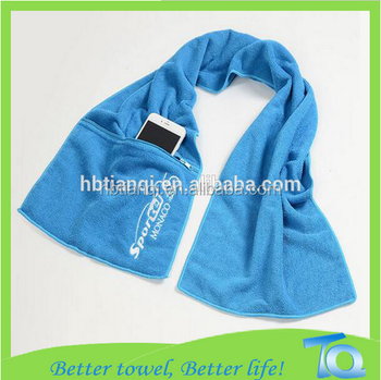 China supplier Business Gifts Mesh Bag Microfiber Sport Towel With Carabiner sports towel with custom logo