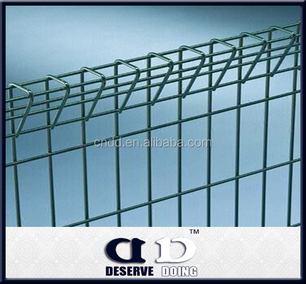 Ornamental Double Loop Welded wire fence for garden fence