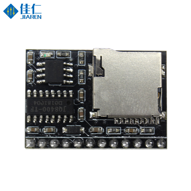 JQ8400-TF USB port to down sound module mp3 voice module with TF card for various public tips