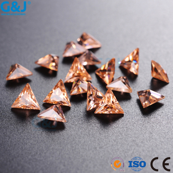 guojie brand Hot Saling triangle Shape Factory Crystal Zirconia For Dress