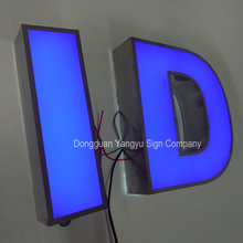 Outdoor hotel 3D led build up acrylic signage