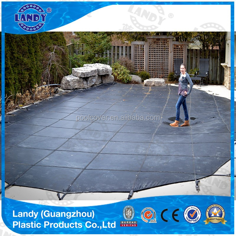 Blue pvc swimming pool cover