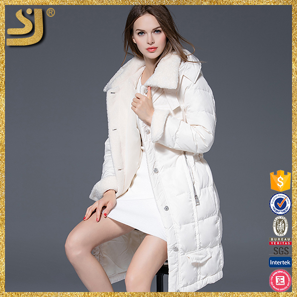 Hot Selling New Mongolian Lamb Fur Winter Women Long Down Coat