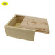 Cheap Unfinished Wood Box with Sliding Lid for Packaging Wholesale