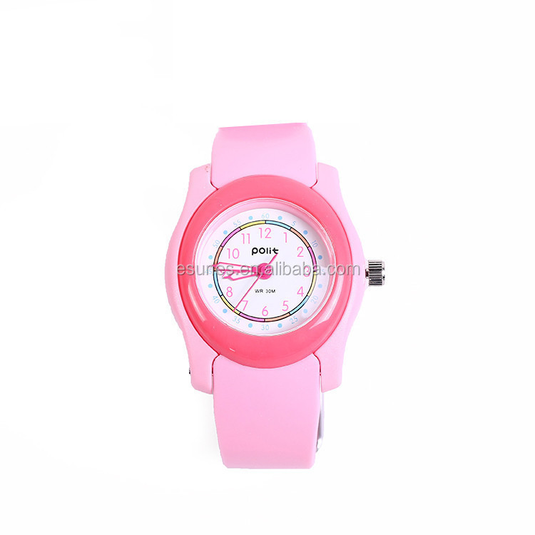 Fashion Lovely Candy kids 3 ATM Waterproof Children silicone jelly slap watch