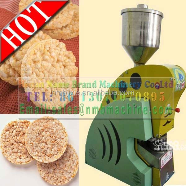 CE approved high quality rice cracker making machine