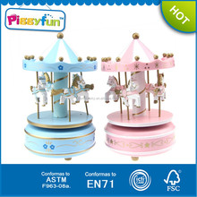 2015 Gifts 6 Color Small Carousel For Sale,Kids Toy Carousel Music Box,Wooden Toy Carousel Music Box AT11747