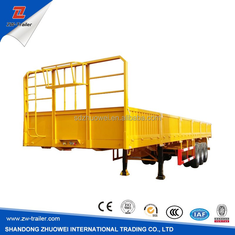 Fence Optional Tri-axle 40FT Container And Cargo Semi Trailer Curtain Side Wall