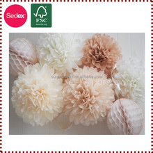 Wedding hall decorations tissue paper pompoms