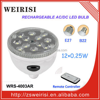 Rechargeable AC/DC SMD LED (5050) Ceiling Lamp with Remote Controller E27/B22 (WRS-4003AR)