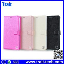 Silk Pattern Wallet Style Magnetic Flip Stand PC PU Leather Case for Meizu MX4 with Card Slot