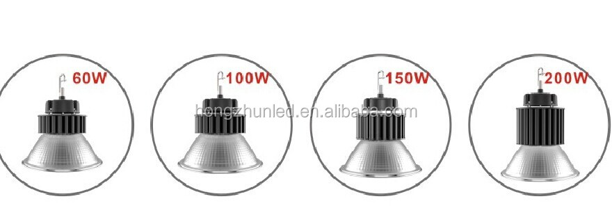 Factory warehouse industrial 100w 120w 150w 200w 250w 300w 400w ufo led high bay light