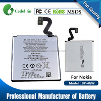 New Genuine Li-ion BP-4GW Battery with Flex Cable For Nokia Lumia 920 N920 BP-4GW 2000mAh