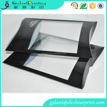 custom clear window pillow boxes medium clear pet pillow boxes