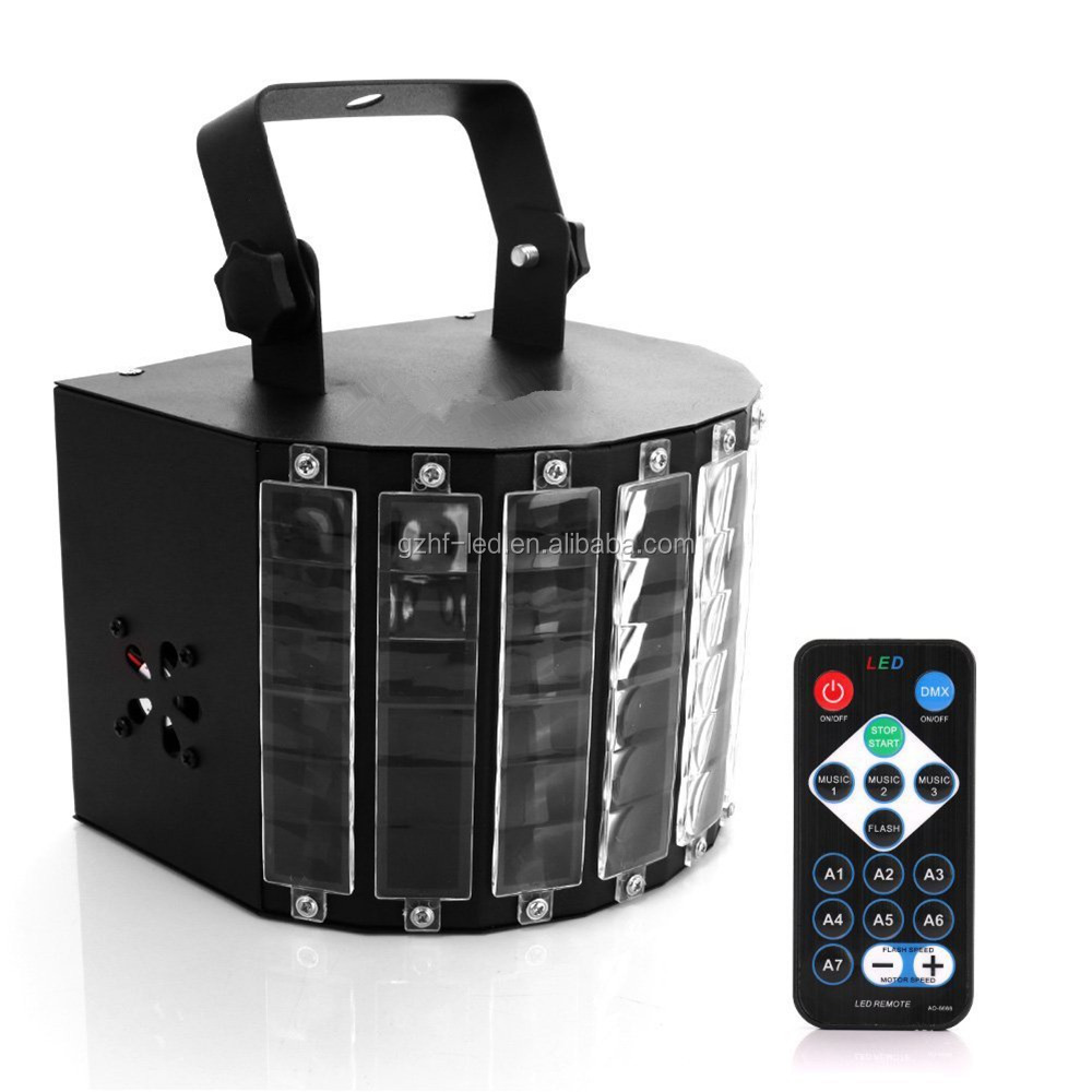 DJ Lights, DMX Sound Music control 18W RGB LED Strobe Effect Stage Lighting for Club Disco Party Show (Black)
