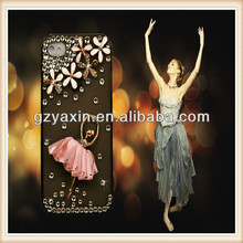 Trendy Shiny Phone Case For iPhone 5 Back Cover,Cell Phone Cover For iPhone 5 Dance Girl Case / For iPhone 5 Rhinestone Case