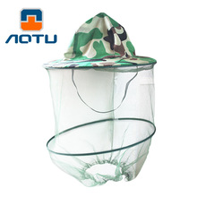 Concave convex beekeeping outdoor camouflage cap field mosquito repellent bee jungle hat