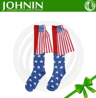 Best Quality Polyester Car Mirror American Flag Socks