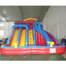 cheap inflatable water slides with pool