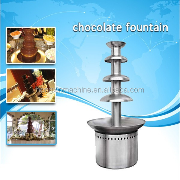 Professional large 5 tier commercial chocolate fountain