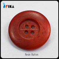 four holes large red resin buttons for fur coat
