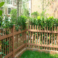 various types of wood plastic composite garden fence for construction