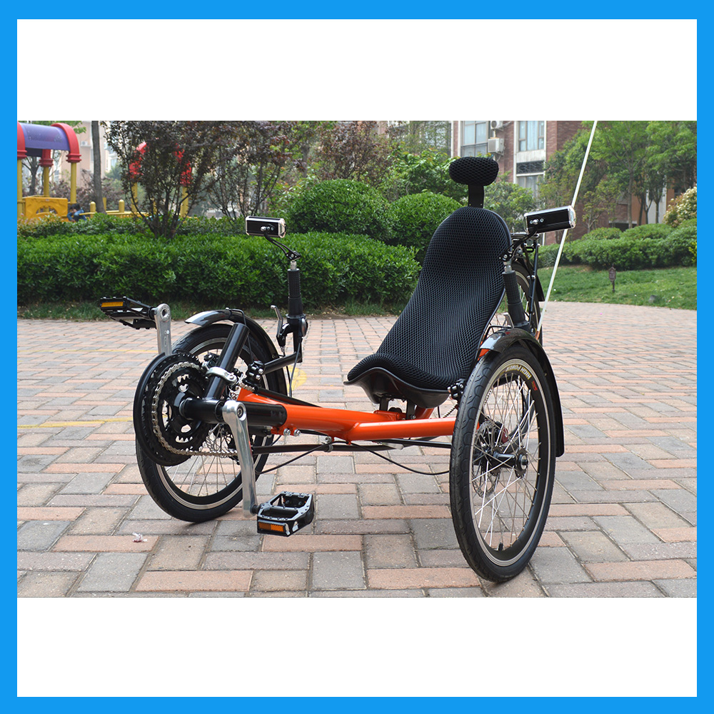 ZZMERCK Hot Sale Fitness Electric Power Pedal Assist Mountain Recumbent Trike